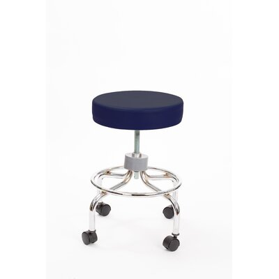 Height Adjusts Brandt Revolving stool with footrest Color: Navy