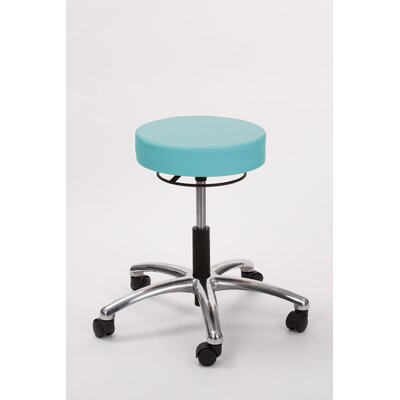 Height Adjusts Brandt Airbuoy Pneumatic stool with ring release Color: Aqua