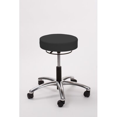 Height Adjusts Brandt Airbuoy Pneumatic stool with ring release Color: Black