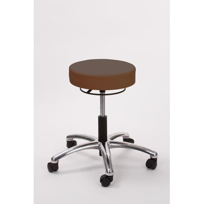 Height Adjusts Brandt Airbuoy Pneumatic stool with ring release Color: Brown