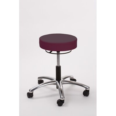 Height Adjusts Brandt Airbuoy Pneumatic stool with ring release Color: Burgundy