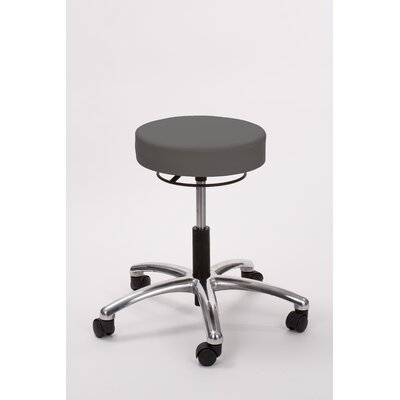 Height Adjusts Brandt Airbuoy Pneumatic stool with ring release Color: Charcoal