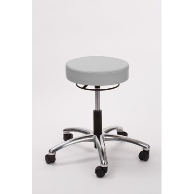 Height Adjusts Brandt Airbuoy Pneumatic stool with ring release Color: Dove Gray