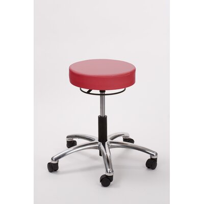 Height Adjusts Brandt Airbuoy Pneumatic stool with ring release Color: Fire