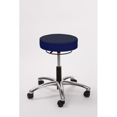 Height Adjusts Brandt Airbuoy Pneumatic stool with ring release Color: Navy