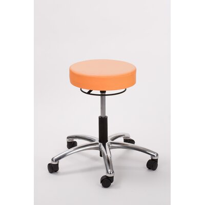 Height Adjusts Brandt Airbuoy Pneumatic stool with ring release Color: Tangerine
