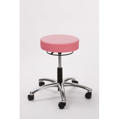 Height Adjusts Brandt Airbuoy Pneumatic stool with ring release Color: Tea Rose