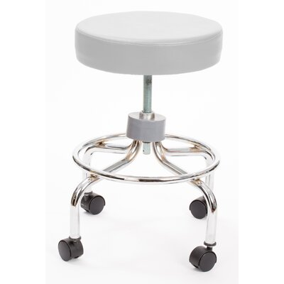 Height Adjusts Brandt Revolving stool with footrest Color: Ivory