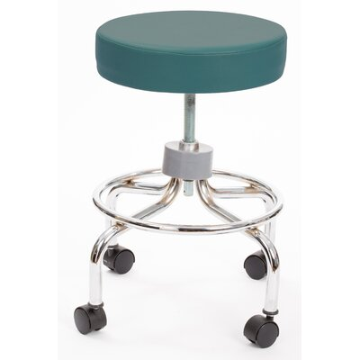 Height Adjusts Brandt Revolving stool with footrest Color: Teal