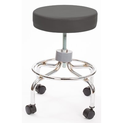 Height Adjusts Brandt Revolving stool with footrest Color: Charcoal