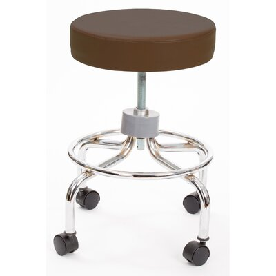 Height Adjusts Brandt Revolving stool with footrest Color: Brown