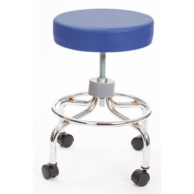 Height Adjusts Brandt Revolving stool with footrest Color: Space Blue