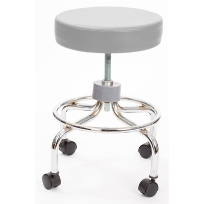 Height Adjusts Brandt Revolving stool with footrest Color: Dove Gray