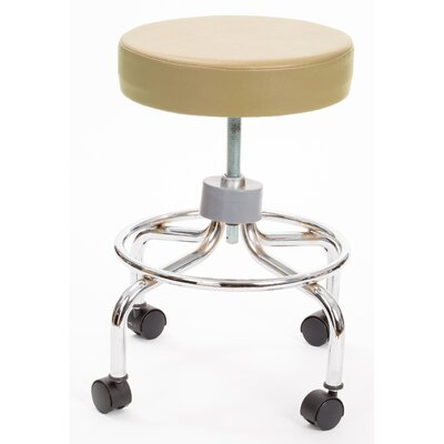 Height Adjusts Brandt Revolving stool with footrest Color: Tan