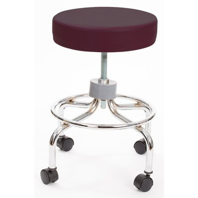 Height Adjusts Brandt Revolving stool with footrest Color: Burgundy