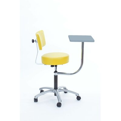 Height Adjustable Stool with Desk Color: Lemon