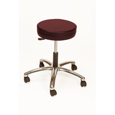 Height Adjustable Lab Stool with Duel Wheel Upholstery: Raspberry