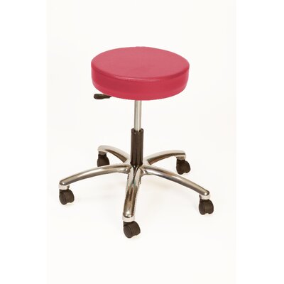 Height Adjustable Lab Stool with Duel Wheel Upholstery: Fire