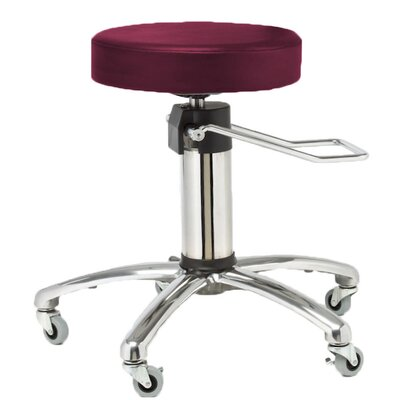 Height Adjusts Hydraulic surgical stool Color: Burgundy