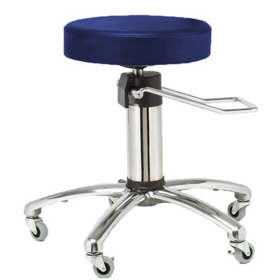 Height Adjusts Hydraulic surgical stool Color: Navy