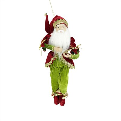 Enchanted Poseable Whimsical Christmas Elf King Figure