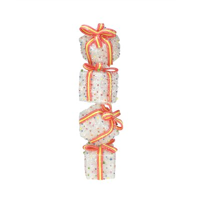 Sparkling Candy Gift Box Tower Christmas Decoration