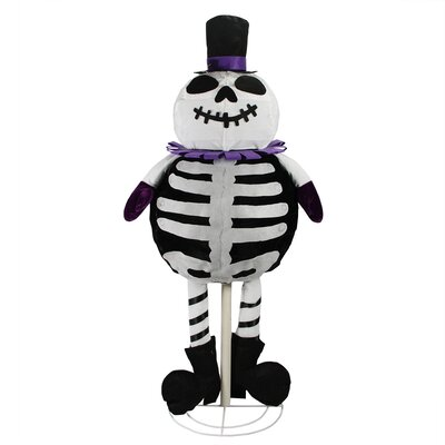 LED Spooky Standing Skeleton Ghost Halloween Decoration