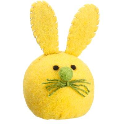 Easter Bunny Rabbit Head Spring Figurine Color: Vibrant Yellow