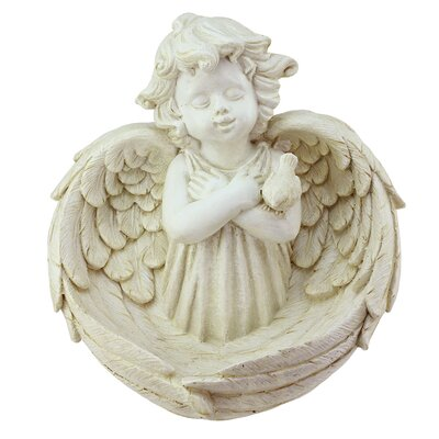 Cherub Angel Decorative Tray Bird Feeder