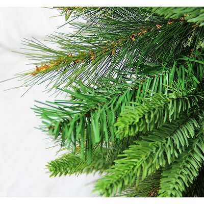 3' Green Cashmere Mixed Pine Artificial Christmas Tree with 100 LED Lights with Stand