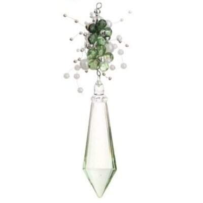 Floral Diamond Christmas Drop Shaped Ornament