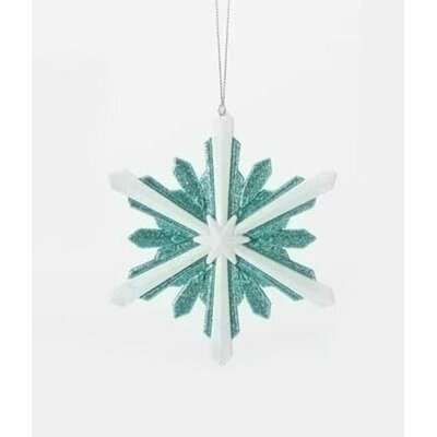 Glittered Starburst Snowflake Christmas Shaped Ornament