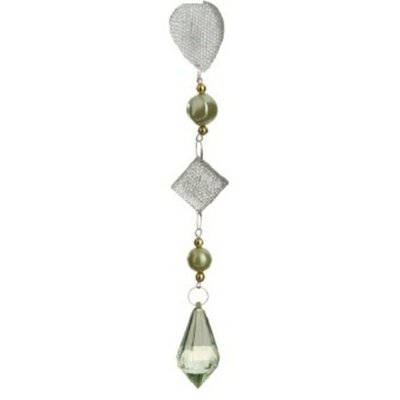 Dazzling Beaded Teardrop Pendant Christmas