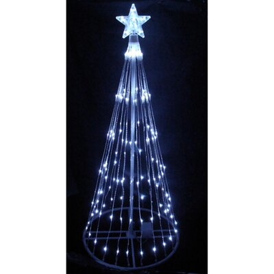 9' Show Cone Christmas Tree and Yard Art Decoration Lighted Display Color: White
