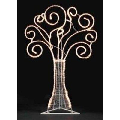 "48"" Pre-Lit Swirl Rope Yard Art Christmas Tree Lighted Display"