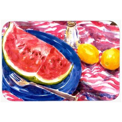 "Watermelon Kitchen/Bath Mat Size: 24"" H x 36"" W x 0.25"" D"