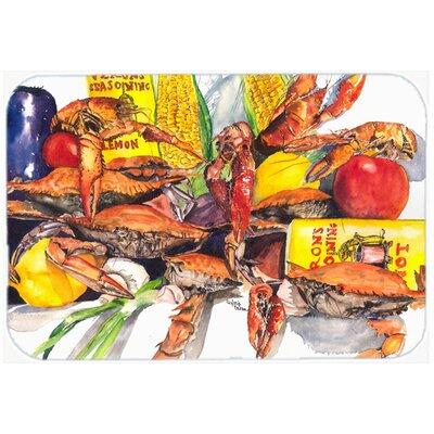 "Veron's and Crabs Kitchen/Bath Mat Size: 24"" H x 36"" W x 0.25"" D"