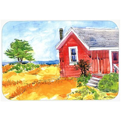 """Old Cottage House At The Lake/Beach Kitchen/Bath Mat Size: 24"""" H x 36"""" W x 0.25"""" D"""