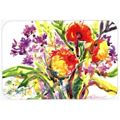"Flower Kitchen/Bath Mat Size: 24"" H x 36"" W x 0.25"" D"