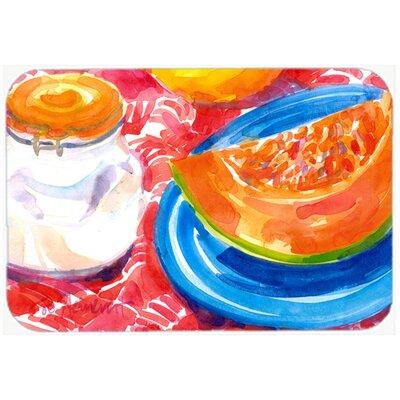 "A Slice Of Cantelope Kitchen/Bath Mat Size: 24"" H x 36"" W x 0.25"" D"