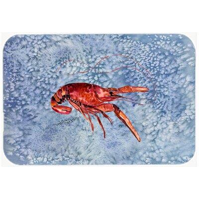 """Crawfish Kitchen/Bath Mat Size: 24"""" H x 36"""" W x 0.25"""" D"""