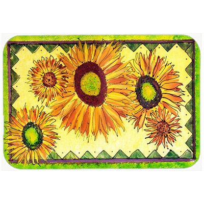 Sunflowers and Lime Kitchen/Bath Mat