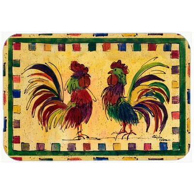 "Rooster Kitchen/Bath Mat Size: 24"" H x 36"" W x 0.25"" D"