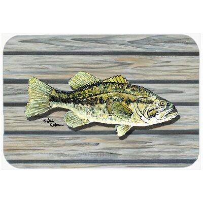 "Fish Bass Small Mouth Kitchen/Bath Mat Size: 20"" H x 30"" W x 0.25"" D"