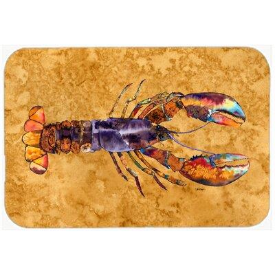 "Lobster Kitchen/Bath Mat Size: 20"" H x 30"" W x 0.25"" D"