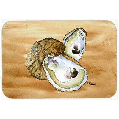 """Oyster Kitchen/Bath Mat Size: 24"""" H x 36"""" W x 0.25"""" D"""