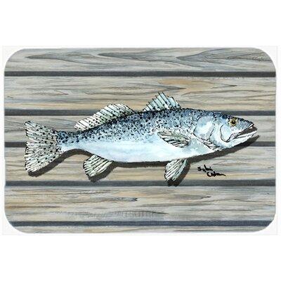 """Fish Speckled Trout Kitchen/Bath Mat Size: 24"""" H x 36"""" W x 0.25"""" D"""