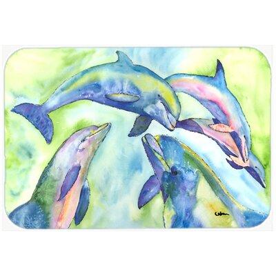 "Dolphin Kitchen/Bath Mat Size: 24"" H x 36"" W x 0.25"" D"