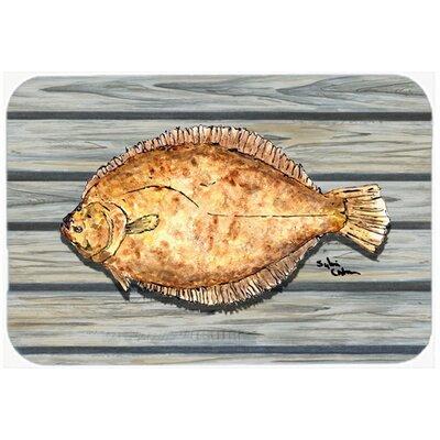 "Fish Flounder Kitchen/Bath Mat Size: 20"" H x 30"" W x 0.25"" D"