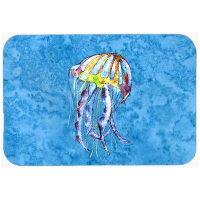 "Jellyfish Kitchen/Bath Mat Size: 20"" H x 30"" W x 0.25"" D"